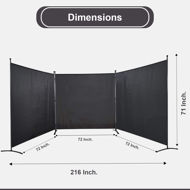 Picture of 3 Panel Private Cubicle Room Divider